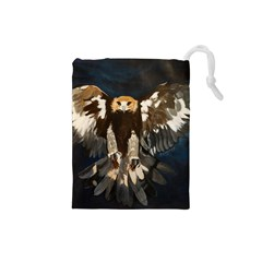 Golden Eagle Drawstring Pouch (small)