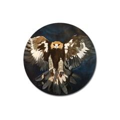 Golden Eagle Magnet 3  (round)