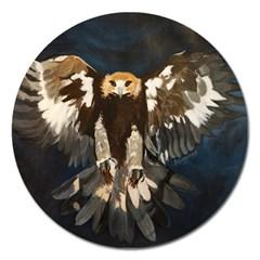 Golden Eagle Magnet 5  (round)