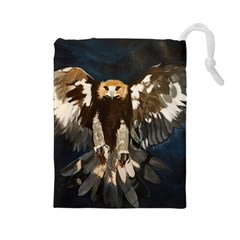 Golden Eagle Drawstring Pouch (large)