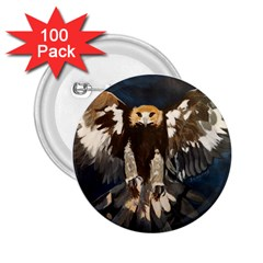 Golden Eagle 2 25  Button (100 Pack)