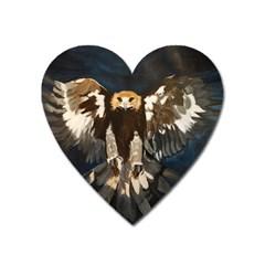GOLDEN EAGLE Magnet (Heart)