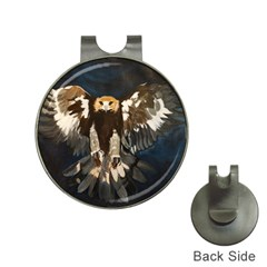 Golden Eagle Hat Clip With Golf Ball Marker