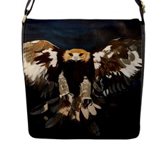 Golden Eagle Flap Closure Messenger Bag (large)