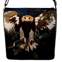 Golden Eagle Flap Closure Messenger Bag (small)