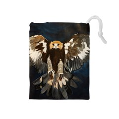 GOLDEN EAGLE Drawstring Pouch (Medium)