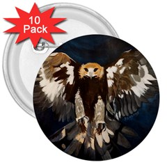 GOLDEN EAGLE 3  Button (10 pack)