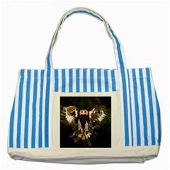 GOLDEN EAGLE Blue Striped Tote Bag
