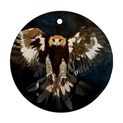 Golden Eagle Round Ornament (two Sides)
