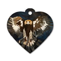 Golden Eagle Dog Tag Heart (one Sided)