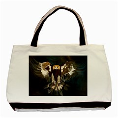 Golden Eagle Twin Sided Black Tote Bag