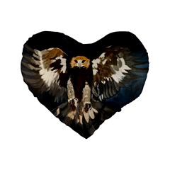 Golden Eagle 16  Premium Heart Shape Cushion