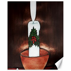 CANDLE AND MISTLETOE Canvas 16  x 20  (Unframed)