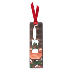 Candle And Mistletoe Small Bookmark