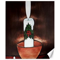 Candle And Mistletoe Canvas 20  X 24  (unframed)