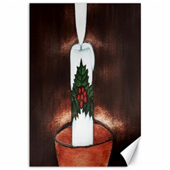 CANDLE AND MISTLETOE Canvas 12  x 18  (Unframed)