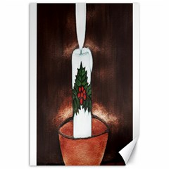 CANDLE AND MISTLETOE Canvas 24  x 36  (Unframed)