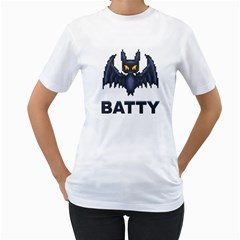 Batty Women s T-Shirt (White)