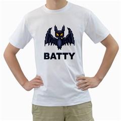 Batty Men s T-Shirt (White)