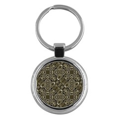 Steam Punk Pattern Print Key Chain (Round)