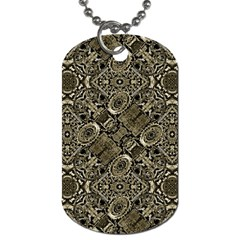 Steam Punk Pattern Print Dog Tag (two Sided)