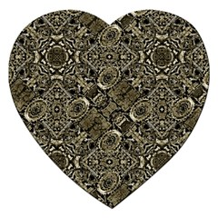 Steam Punk Pattern Print Jigsaw Puzzle (Heart)