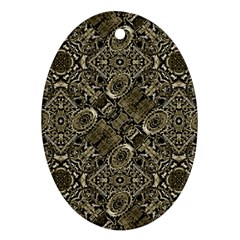 Steam Punk Pattern Print Oval Ornament (two Sides)