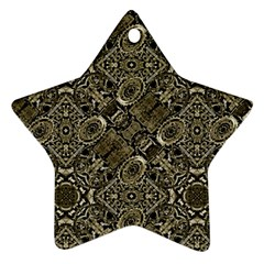 Steam Punk Pattern Print Star Ornament (Two Sides)