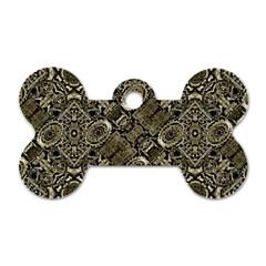 Steam Punk Pattern Print Dog Tag Bone (One Sided)