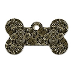 Steam Punk Pattern Print Dog Tag Bone (Two Sided)