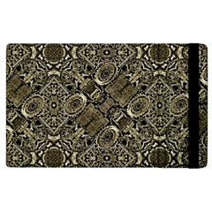 Steam Punk Pattern Print Apple Ipad 3/4 Flip Case