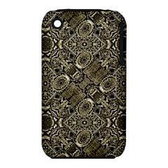 Steam Punk Pattern Print Apple iPhone 3G/3GS Hardshell Case (PC+Silicone)