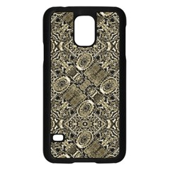 Steam Punk Pattern Print Samsung Galaxy S5 Case (Black)