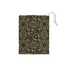 Steam Punk Pattern Print Drawstring Pouch (Small)