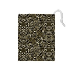 Steam Punk Pattern Print Drawstring Pouch (Medium)
