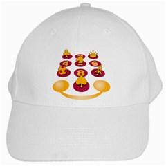 Cellufun White Baseball Cap