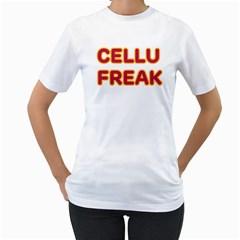 Cellu-Freak Women s Two-sided T-shirt (White)