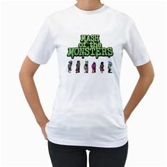 Mash of the Monsters Women s T-Shirt (White)
