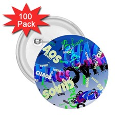 Pure Chaos 2 25  Button (100 Pack)