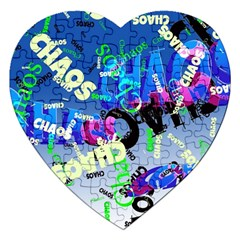 Pure Chaos Jigsaw Puzzle (heart)
