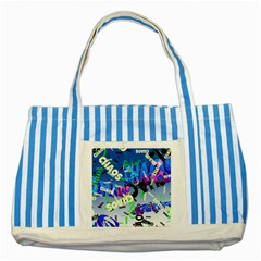 Pure Chaos Blue Striped Tote Bag
