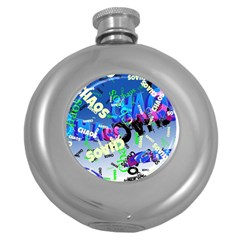 Pure Chaos Hip Flask (round)