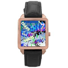 Pure Chaos Rose Gold Leather Watch