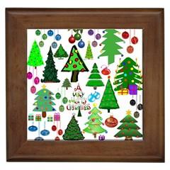 Oh Christmas Tree Framed Ceramic Tile