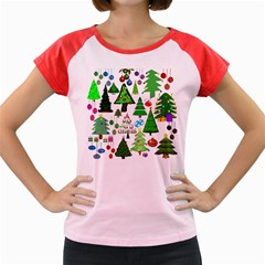 Oh Christmas Tree Women s Cap Sleeve T Shirt (colored)