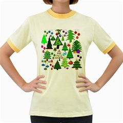 Oh Christmas Tree Women s Ringer T Shirt (colored)