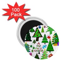 Oh Christmas Tree 1.75  Button Magnet (100 pack)