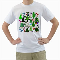 Oh Christmas Tree Men s Two Sided T Shirt (white)