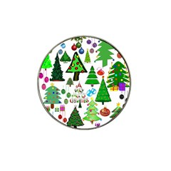 Oh Christmas Tree Golf Ball Marker 4 Pack (for Hat Clip)