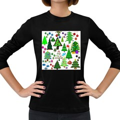 Oh Christmas Tree Women s Long Sleeve T-shirt (Dark Colored)